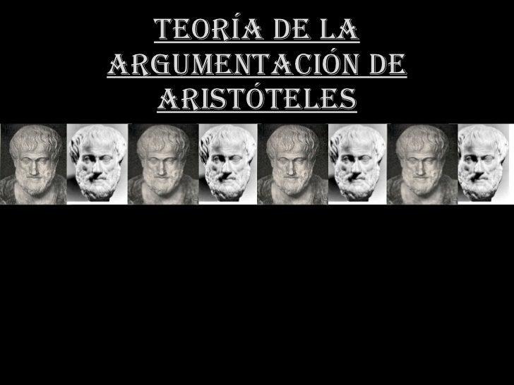 Teoría de la Argumentación de Aristóteles