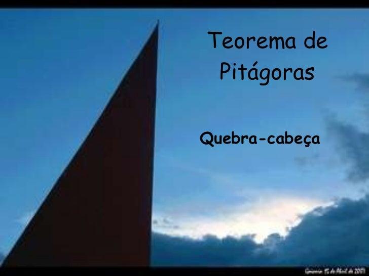 Teorema de Pitágoras Quebra-cabeça