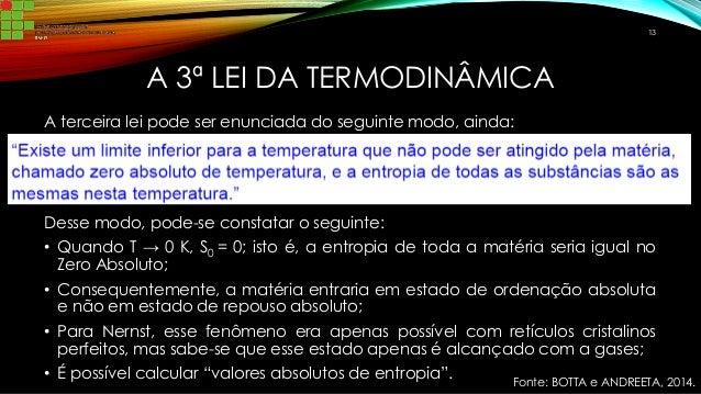 Leis da termodinamica quimica