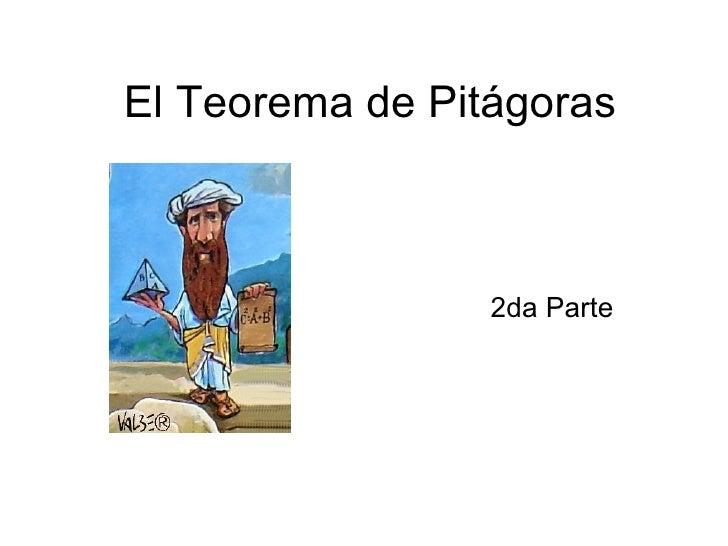 El Teorema de Pit ágoras 2da Parte
