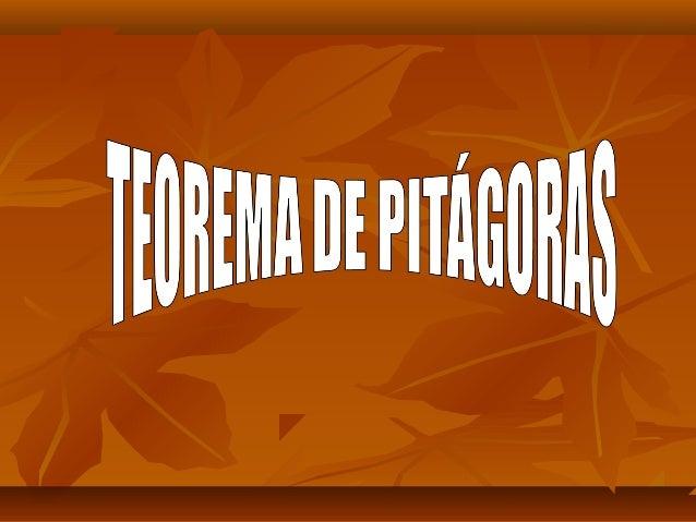 Teorema de PitágorasTeorema de PitágorasO que diz?O que diz?Como os três lados de um triângulo retânguloComo os três lados...
