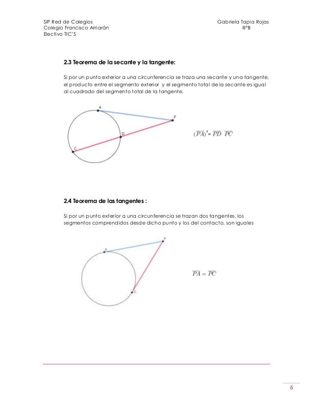 Teoremas de la circunferencia word for Exterior a la circunferencia