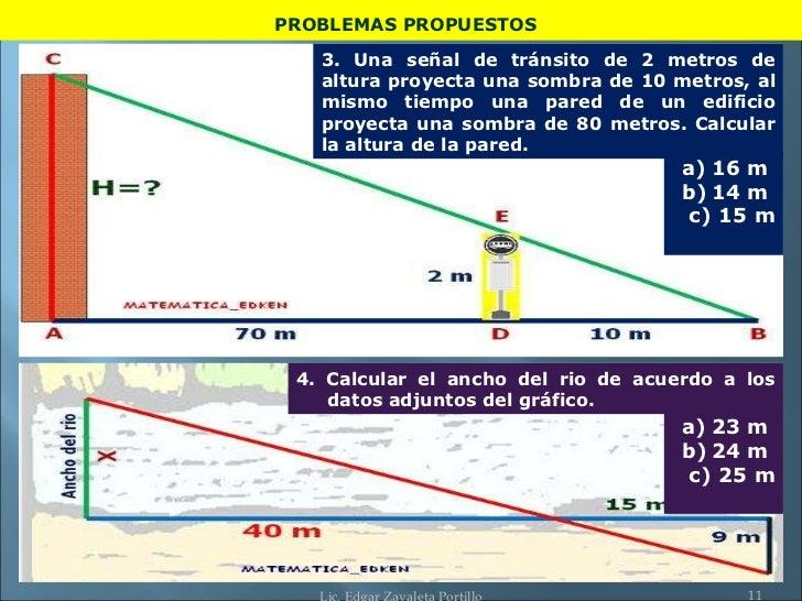 Determinacion De La Altura Teorema Thales Edken