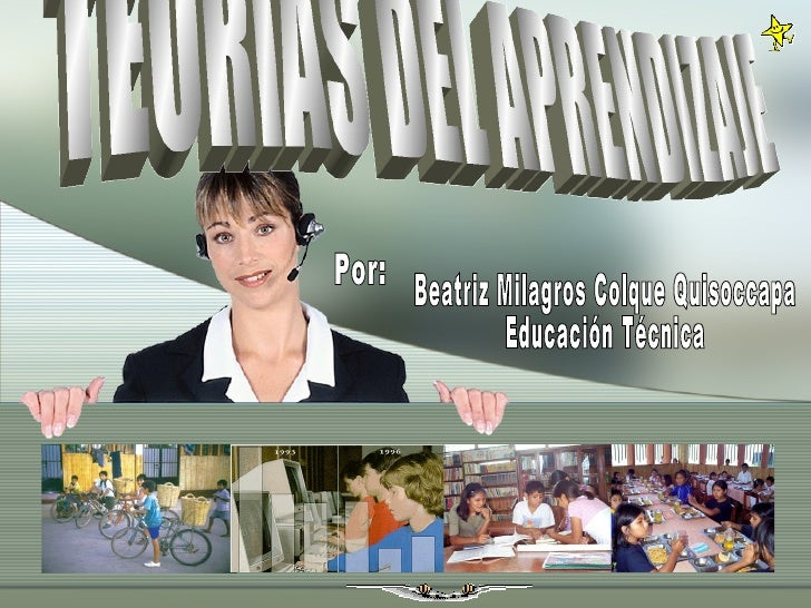 TEORÍAS DEL APRENDIZAJE Por: Beatriz Milagros Colque Quisoccapa Educación Técnica