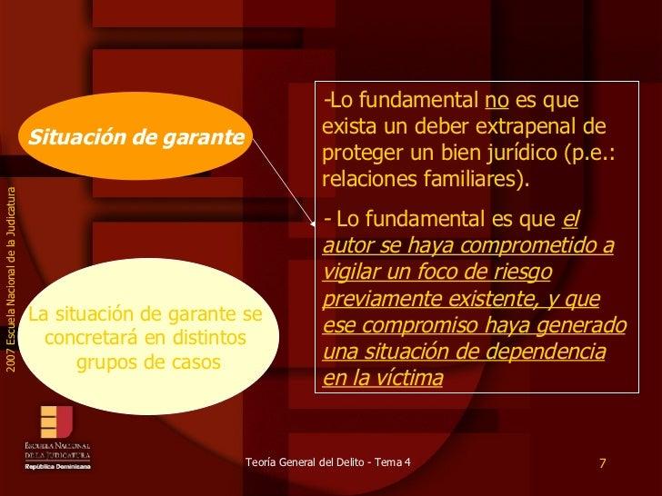 Situación de garante - Lo fundamental  no  es que exista un deber extrapenal de proteger un bien jurídico (p.e.: relacione...