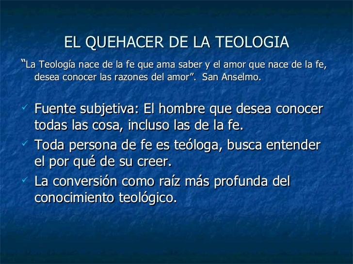 Teologia Contextual Metodologia: TEORIA DEL METODO TEOLOGICO