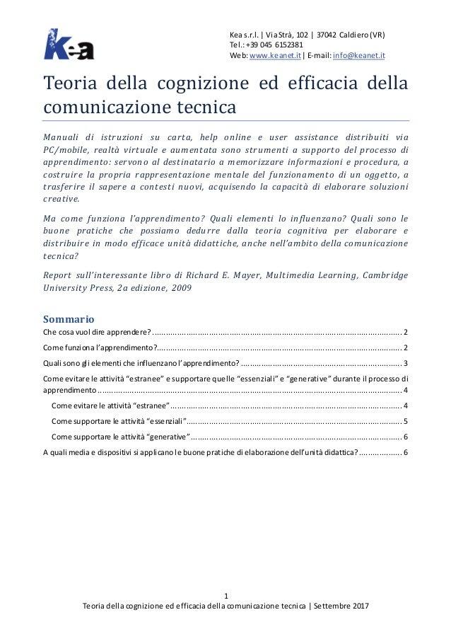 Keas.r.l.| ViaStrà, 102 | 37042 Caldiero(VR) Tel.:+39 045 6152381 Web:www.keanet.it|E-mail:info@keanet.it 1 Teoria della c...