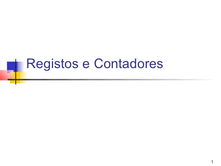 Registos e Contadores                        1