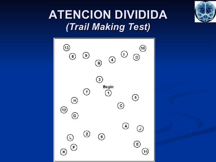 ATENCION DIVIDIDA (Trail Making Test)