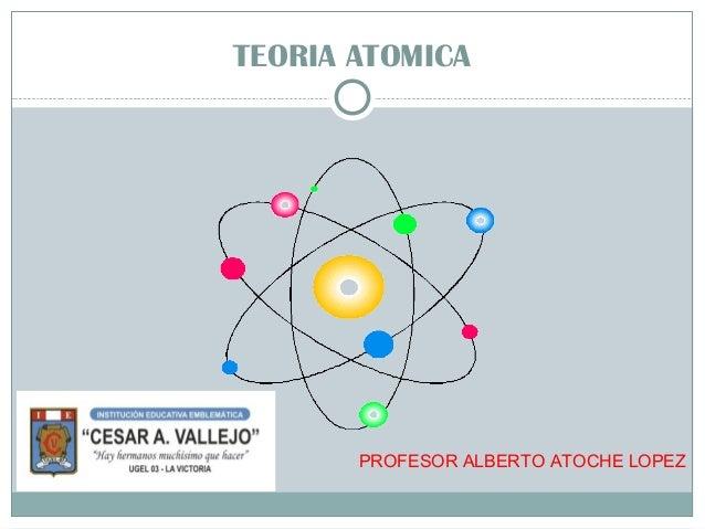 TEORIA ATOMICA PROFESOR ALBERTO ATOCHE LOPEZ