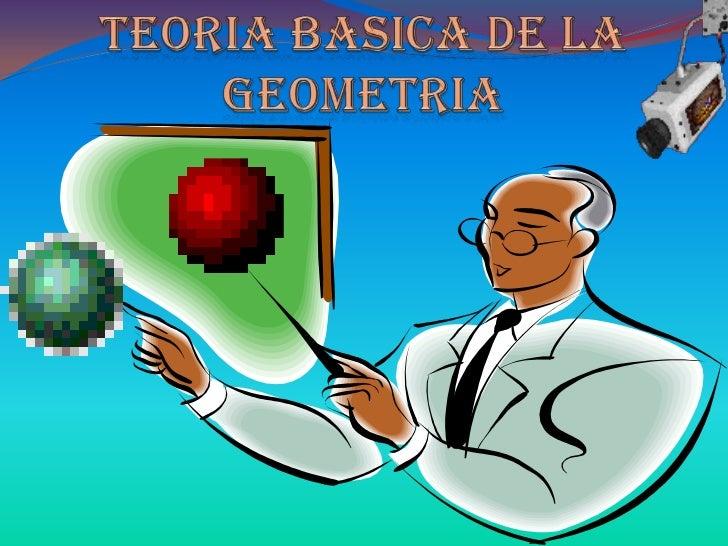 En la geometría, como disciplina, se distinguencomponentes tales como el plano, el punto, la línea -recta, curva, quebrada...