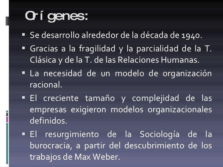 Orígenes: <ul><li>Se desarrollo alrededor de la década de 1940. </li></ul><ul><li>Gracias a la fragilidad y la parcialidad...