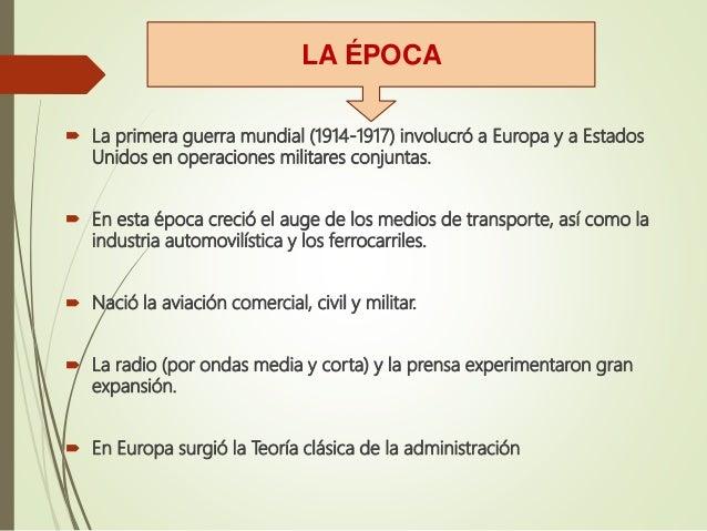 Teoria clasica de la administracion for Epoca clasica