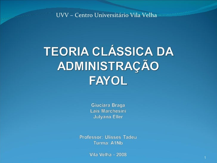 UVV – Centro Universitário Vila Velha