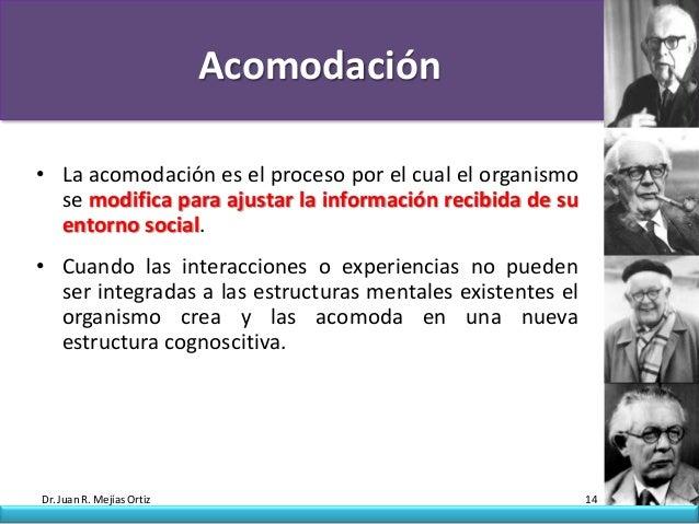Acomodación• La acomodación es el proceso por el cual el organismo  se modifica para ajustar la información recibida de su...