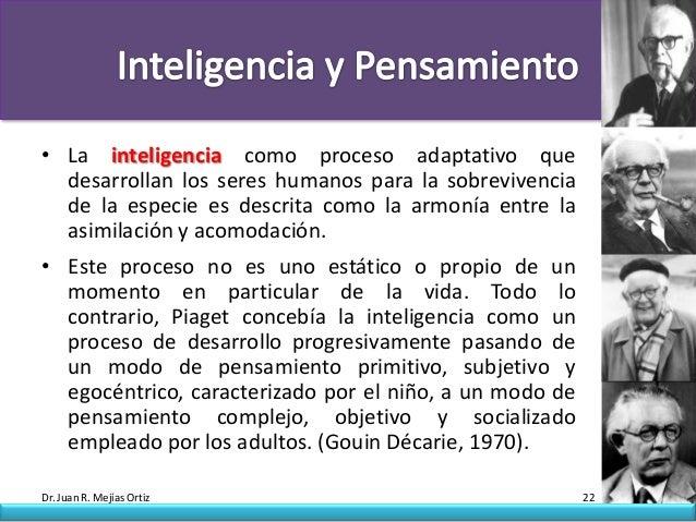 • La inteligencia como proceso adaptativo que  desarrollan los seres humanos para la sobrevivencia  de la especie es descr...