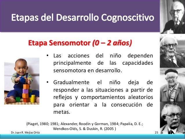 Etapa Sensomotor (0 – 2 años)                           • Las acciones del niño dependen                             princ...