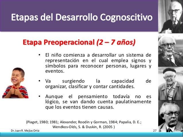 Etapa Preoperacional (2 – 7 años)                       • El niño comienza a desarrollar un sistema de                    ...