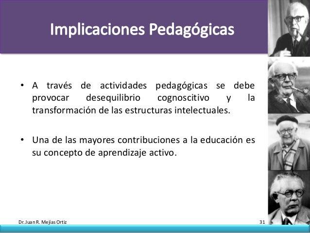 • A través de actividades pedagógicas se debe  provocar    desequilibrio     cognoscitivo     y la  transformación de las ...
