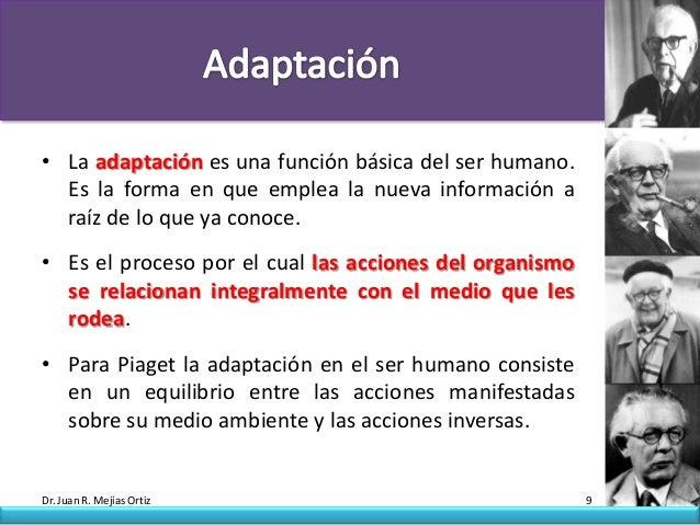 • La adaptación es una función básica del ser humano.  Es la forma en que emplea la nueva información a  raíz de lo que ya...
