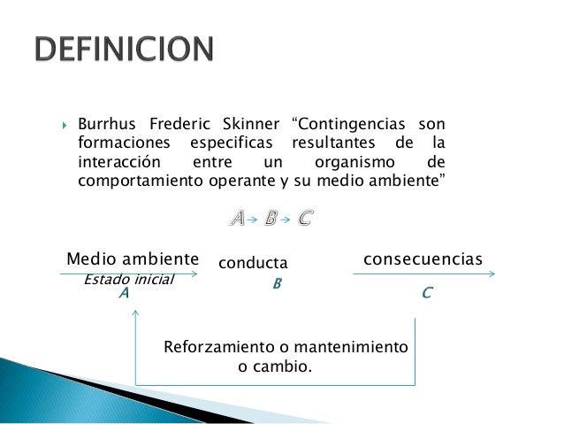Teoria De La Contingencia Segun Skinner