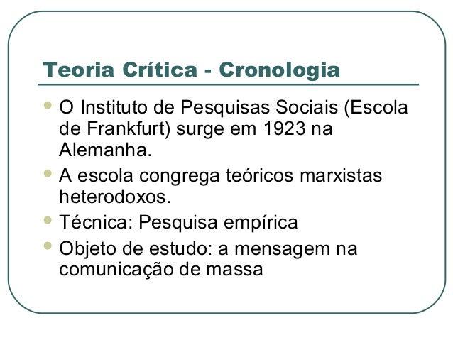 Teoria crítica Slide 2