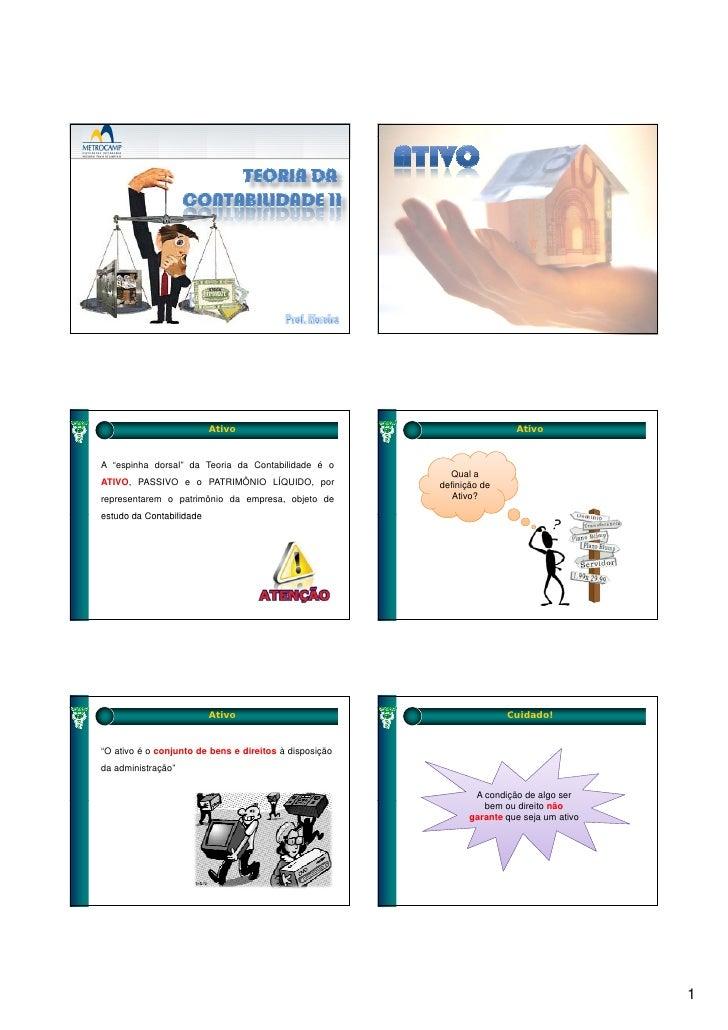 Teoria da contabilidade slides aula 01 ativo