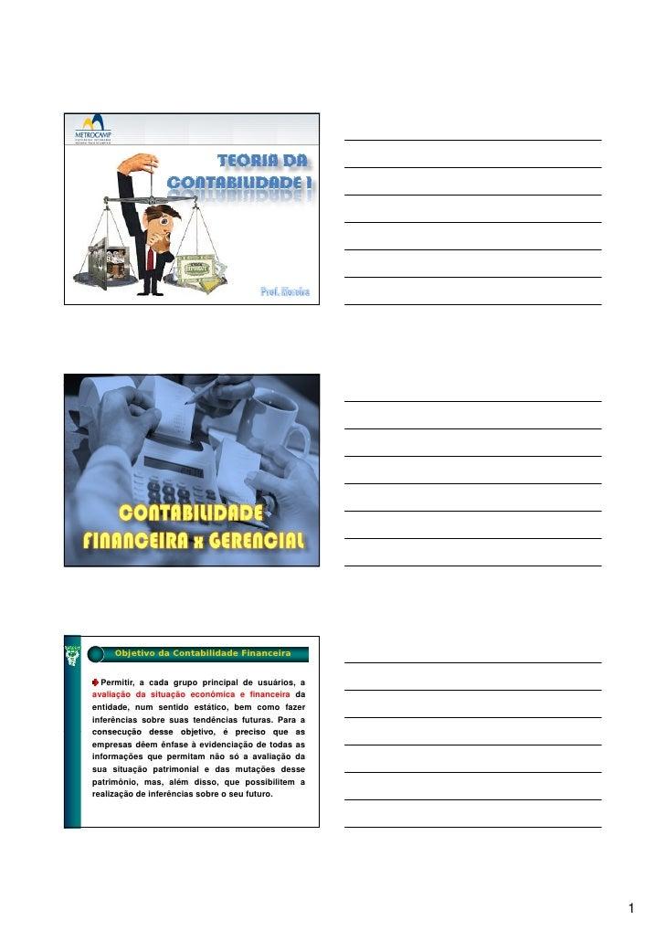 Teoria da contabilidade slides objetivos