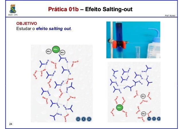 DQOI - UFC Prof. Nunes Prática 01b – Efeito Salting-outPrática 01b – Efeito Salting-out OBJETIVO Estudar o efeito salting ...