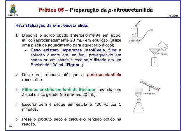 DQOI - UFC Prof. Nunes Prática 05 – Preparação da p-nitroacetanilidaPrática 05 – Preparação da p-nitroacetanilida Recrista...