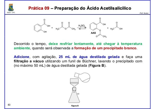 DQOI - UFC Prof. Nunes Prática 09 – Preparação do Ácido AcetilsalicílicoPrática 09 – Preparação do Ácido Acetilsalicílico ...