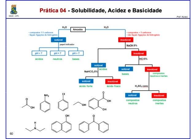 DQOI - UFC Prof. Nunes Prática 04 - Solubilidade, Acidez e BasicidadePrática 04 - Solubilidade, Acidez e Basicidade 60