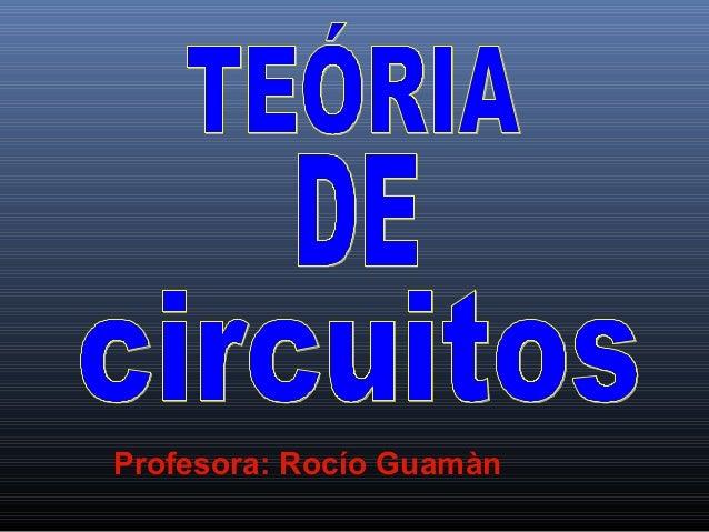 Profesora: Rocío Guamàn