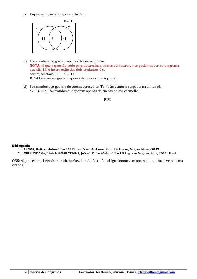 Teoria de conjuntos fichas de exerccios resoluo 10 ccuart Choice Image