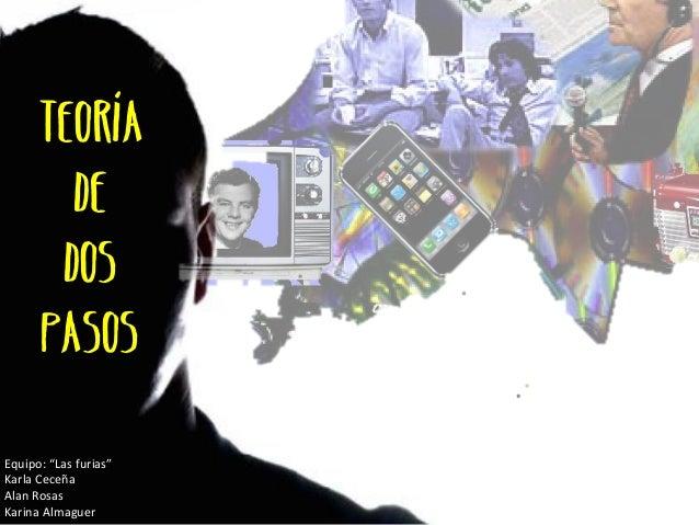 """TEORíA  DE  DOS  PASOS  Equipo:  """"Las  furias""""  Karla  Ceceña  Alan  Rosas  Karina  Almaguer"""