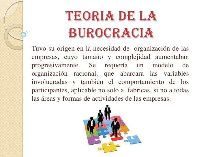 Teoria de la burocracia Slide 2