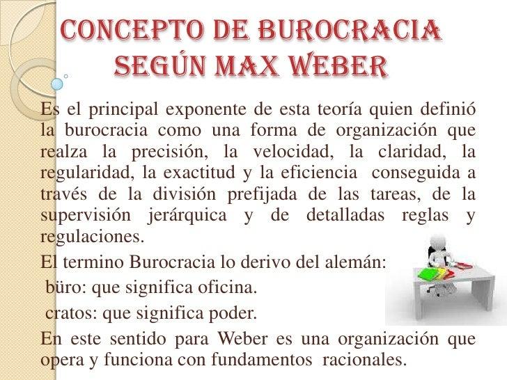Teoria de la burocracia for Concepto de organizacion de oficina
