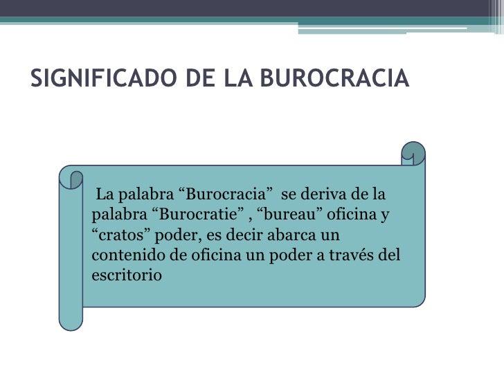 Teoria De La Burocracia Administrativa