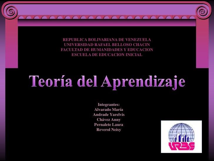 REPUBLICA BOLIVARIANA DE VENEZUELAUNIVERSIDAD RAFAEL BELLOSO CHACINFACULTAD DE HUMANIDADES Y EDUCACIONESCUELA DE EDUCACION...