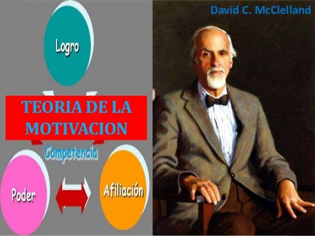 TEORIA DE LA MOTIVACION David C. McClelland