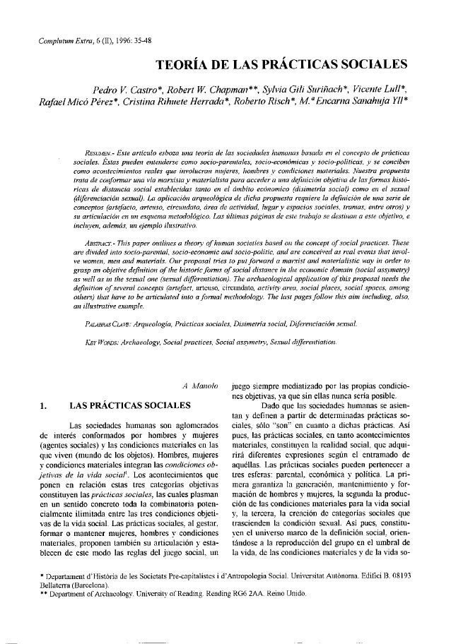 Complutuní Extra, 6(11), 1996: 35-48                                         TEORÍA DE LAS PRACTICAS SOCIALES            P...