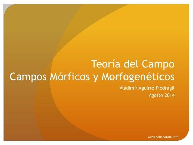 Rupert Sheldrake - Morphic Fields - Los Campos Morfogen ticos