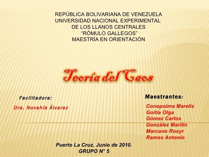 """REPÚBLICA BOLIVARIANA DE VENEZUELA UNIVERSIDAD NACIONAL EXPERIMENTAL  DE LOS LLANOS CENTRALES """" RÓMULO GALLEGOS"""" MAESTRÍA ..."""