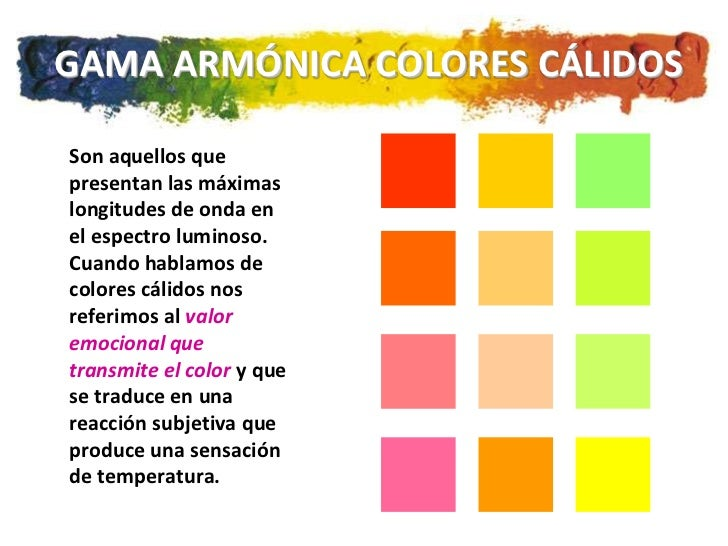 Teoria del color - Gama de colores calidos ...