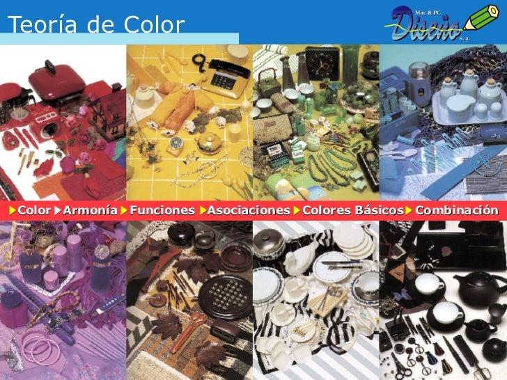 Teoría de ColorColor   Armonía   Funciones   Asociaciones   Colores Básicos   Combinación