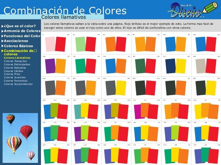 Teoria del color - Colores llamativos ...