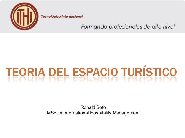 Ronald Soto MSc. in International Hospitality Management
