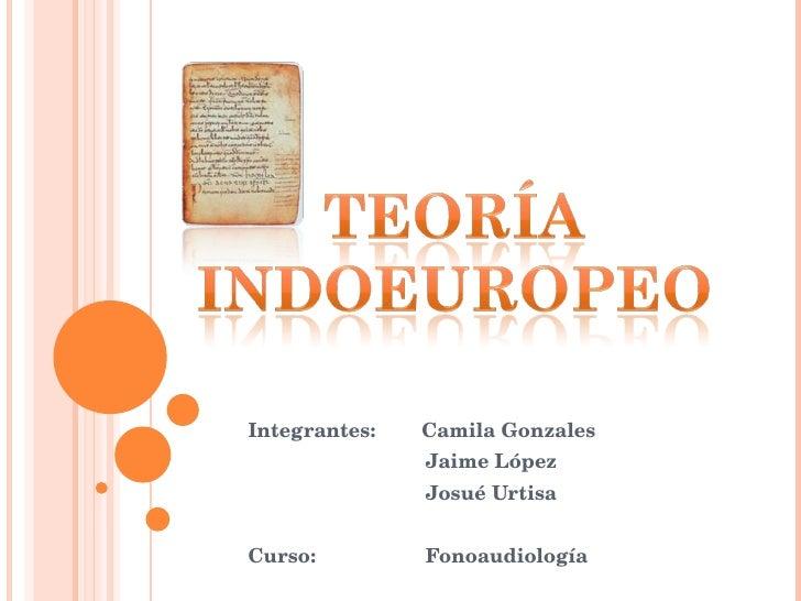 Integrantes:  Camila Gonzales   Jaime López   Josué Urtisa Curso:   Fonoaudiología
