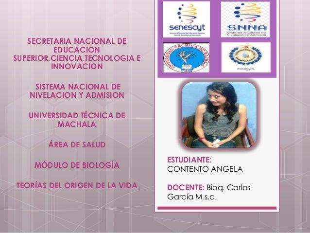 SECRETARIA NACIONAL DE EDUCACION SUPERIOR,CIENCIA,TECNOLOGIA E INNOVACION SISTEMA NACIONAL DE NIVELACION Y ADMISION UNIVER...