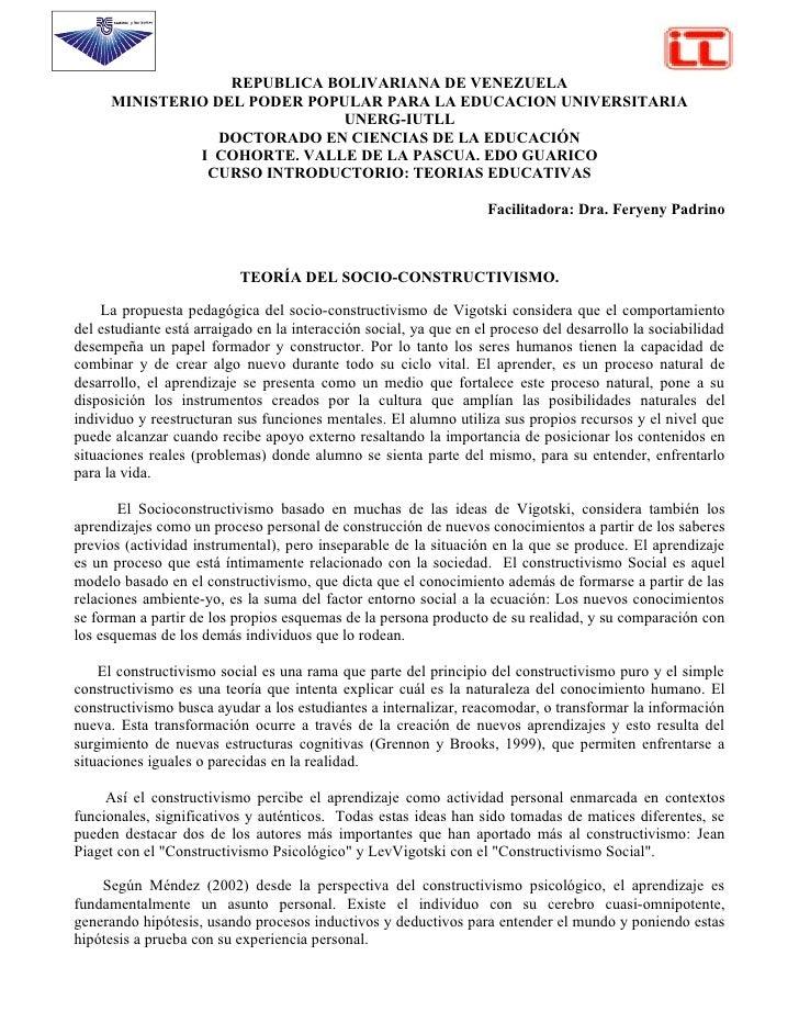 REPUBLICA BOLIVARIANA DE VENEZUELA      MINISTERIO DEL PODER POPULAR PARA LA EDUCACION UNIVERSITARIA                      ...